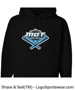 MOT Little League Full Color Youth Hoodie - Black Design Zoom
