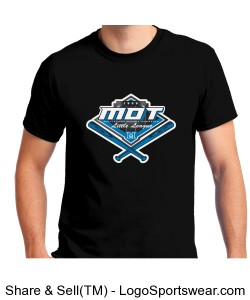 MOT Little League Full Color Logo Adult T-Shirt - Black Design Zoom