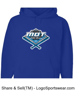 MOT Little League Full Color Logo Adult Hoodie - Royal Design Zoom