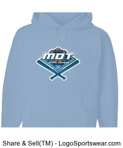 MOT Little League Full Color Logo Youth Hoodie - Light Blue Design Zoom
