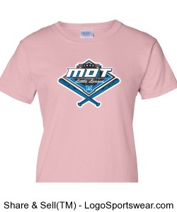 MOT Little League Full Color Logo Ladies T-Shirt - Pink Design Zoom