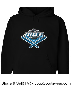 MOT Little League Full Color Logo Adult Hoodie - Black Design Zoom