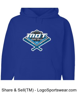 MOT Little League Full Color Logo Youth Hoodie - Royal Design Zoom