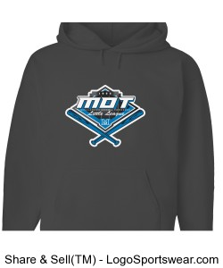 MOT Little League Full Color Logo Adult Hoodie - Dark Grey Design Zoom