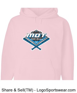 MOT Little League Full Color Logo Youth Hoodie - Pink Design Zoom