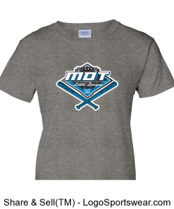 MOT Little League Full Color Logo Ladies T-Shirt - Grey Design Zoom