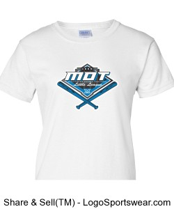 MOT Little League Full Color Logo Ladies T-Shirt - White Design Zoom