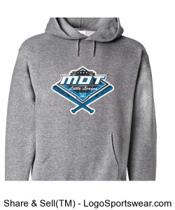 MOT Little League Full Color Logo Adult Hoodie - Grey Design Zoom