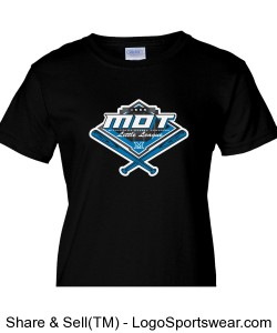MOT Little League Full Color Logo Ladies T-Shirt - Black Design Zoom