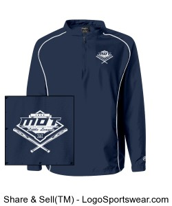 MOT Little League Adult Logo Jacket - Navy Design Zoom
