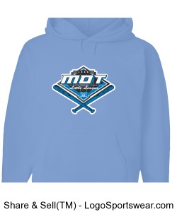 MOT Little League Full Color Logo Adult Hoodie - Light Blue Design Zoom