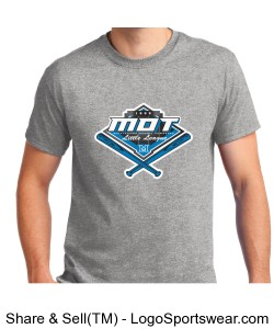 MOT Little League Full Color Logo Adult T-Shirt - Grey Design Zoom