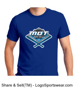 MOT Little League Full Color Logo Adult T-Shirt - Royal Design Zoom