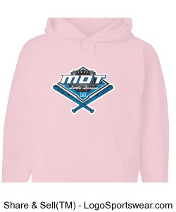 MOT Little League Full Color Logo Adult Hoodie - Pink Design Zoom