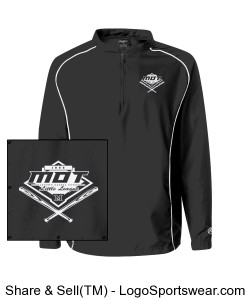 MOT Little League Adult Logo Jacket - Black Design Zoom